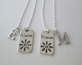 Friend Necklace, 2 Initial Necklaces