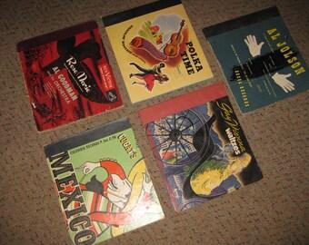 Vintage Record Album Covers - Cugat - Rose Marie - Polka - Waltz - Al Jolson-1940's-50's Graphics