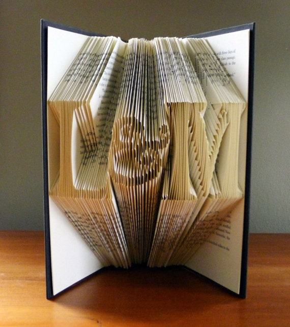 ... Folded Book Sculpture Gift - Handmade - Gift for Him - Gift for Her