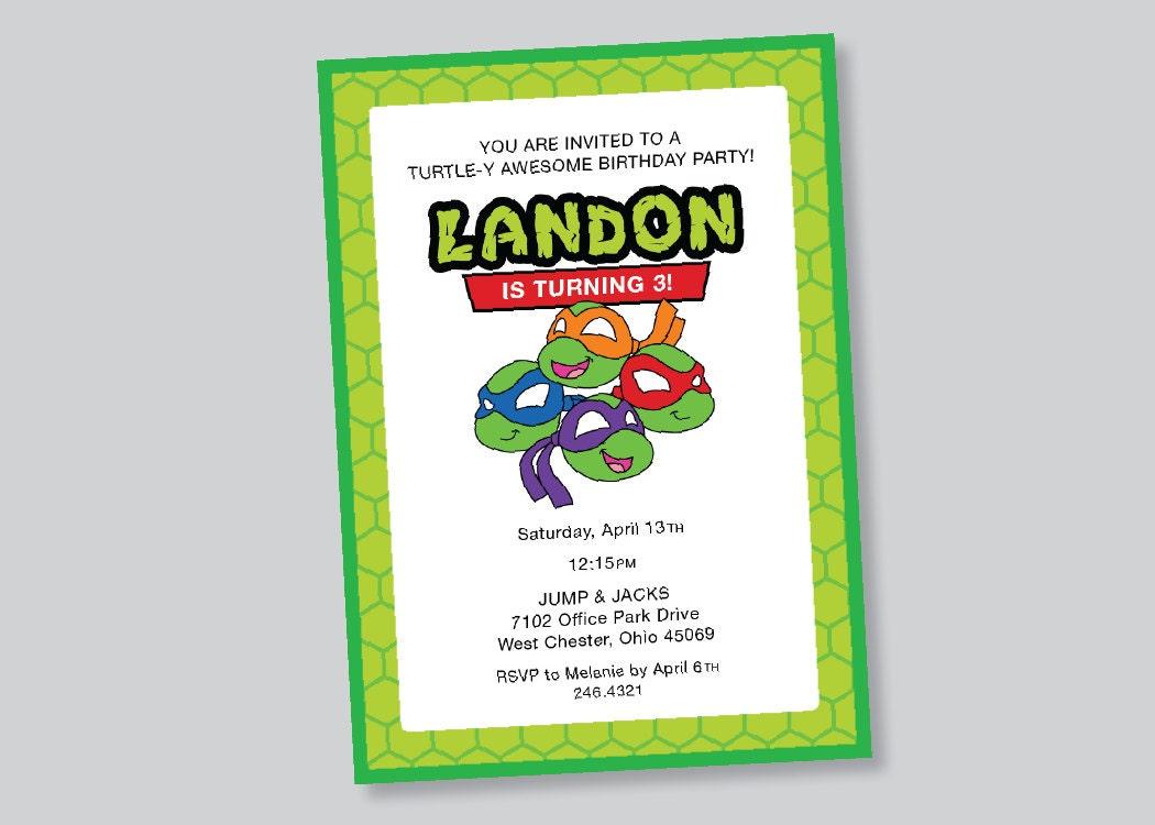 Ninja Turtles Invitation Ideas - Free Printable Invitation Design ...