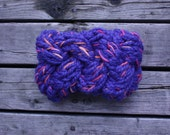 Cobalt Mix chunky braided headband