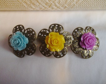 Barrette - Spring Boutique Filigree Barrette - French Style Barrette - Cabachon Barrette
