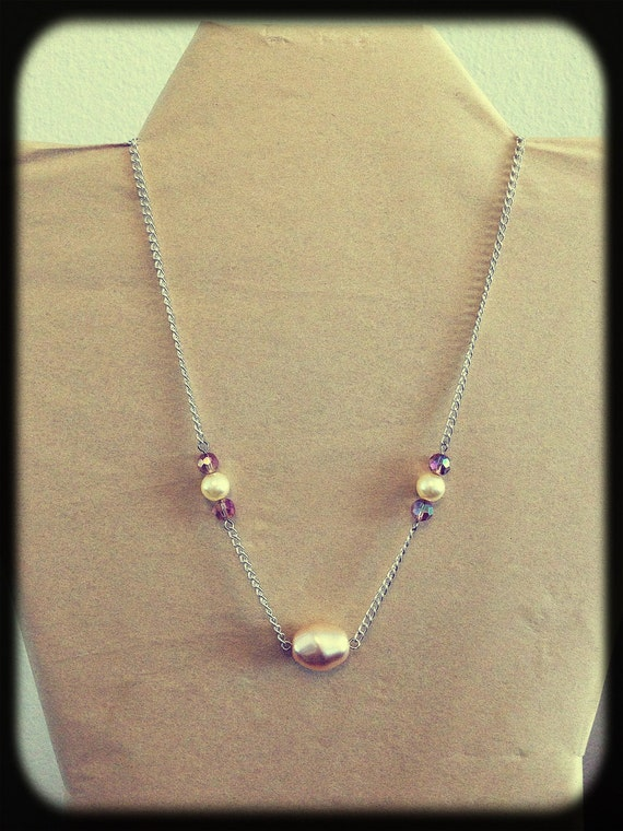 dainty pearl and necklace by eight30seven on etsy