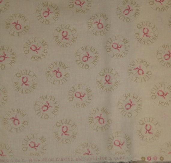 Timeless Treasures Quilt for a Cure Breast Cancer Awareness Fabric by the yard