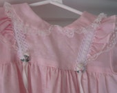 Vintage pink, frilly special occasion dress, made by Yellow Bird