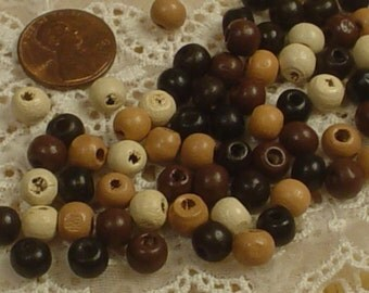 100 Wooden Beads 4 Colors,Jewelry Making, Jewelry Art,Spacers,Supplies, Commercial,Bead Collector,Craft Supply, Eclectic,Big Bead,Bohemian