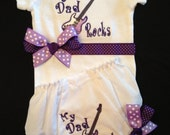 Rock Star Onesie and Bloomers....Bodysuit Diaper Cover for BaBy GiRl
