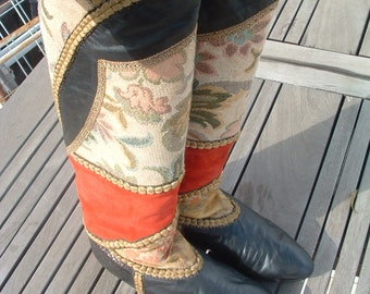 free shipping hand made boots buy designer in Italy in 1960's size 37 1/2