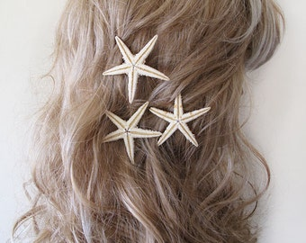 Starfish Pins, Starfish Hair Accessories, Beach Hair Accessories,Natural, Mermaid Hair , Wedding Beach Hair Accessories
