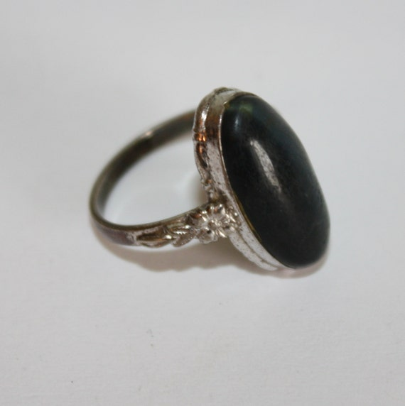 vintage sterling ring deco 1930s jewelry