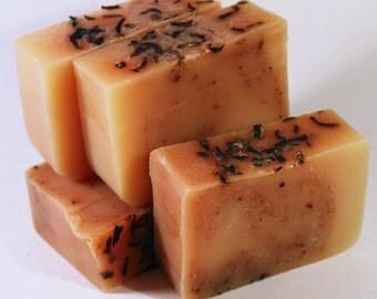 Organic Soap - Lemon Verbena and Hibiscus  (Vegan, Palm Free, Cruelty Free)