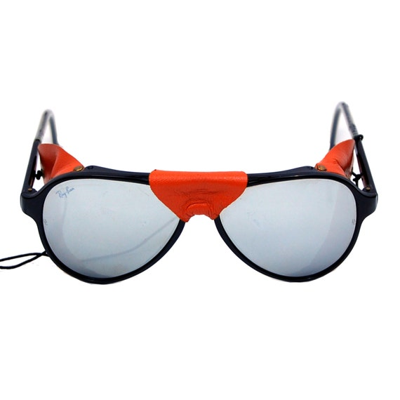 ski sunglasses  Vintage Ray Ban Bausch \u0026 Lomb Glacier Ski Arctic Cats Leather