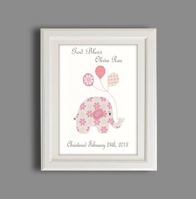 Christening gift baptism gift baby girl personalized print - Gifts for baby christening ideas ...