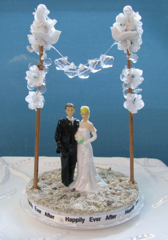BEACH Bride And Groom Wedding Cake Topper By CeShoreTreasures