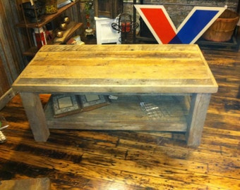Coffee Table, Rustic Coffee Table, Rustic Table, Coffee Table, Reclaimed wood table