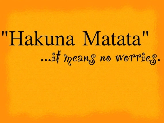 hakuna matata it means no worries lion king