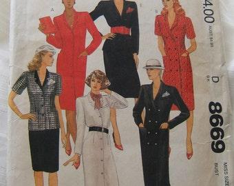 McCalls 8669 uncut womens dress size 12