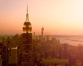 New York Photography, Manhattan, Empire State Building, Skyline, Cityscape, Urban Decor, Modern, holiday sale, art sale, fPOE