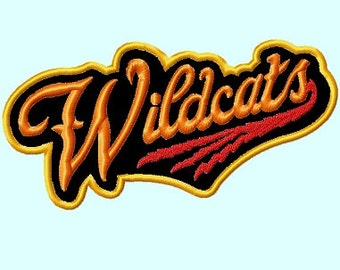 Wildcats word APPLIQUE Embroidery Design INSTANT DOWNLOAD