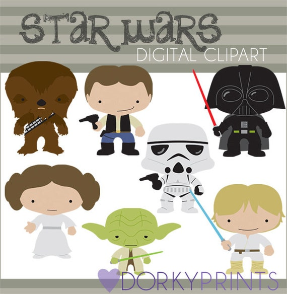 Star Wars Digital Clip Art Set -Personal and Commercial- Yoda, Darth ...