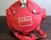 Vintage Palco Aluminum Camping Canteen with Red Nylon Cover