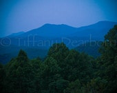 Tennessee Twilight - Smoky Mountain National Park - sunset - dusk - 8x8 square matte print