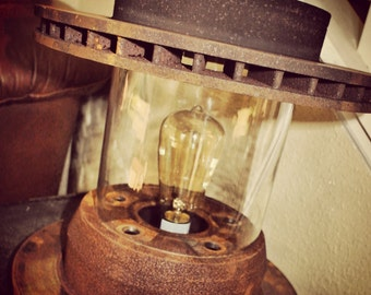 Industrial Rotor Lantern Table Lamp