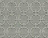 Geometric Grey Fabric - Solid Grey Upholstery Fabric - Textured Circle Design - Padded Headboard - Furniture Fabric - Light Grey Home Decor