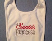 Santa's princess Bib