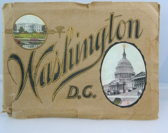 "Vintage Washington D.C. 1910 ""Seeing Washington"" Picture Booklet Ephemera"