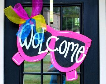 Summer Wreath | Summer Door Hanger | Sunglasses Door Decoration | Outdoor Wreath