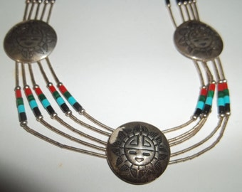 Zuni Sterling Silver Necklace  Thanksgiving, Black Friday, Cyber Monday, Christmas