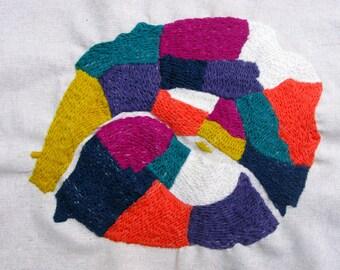 Paris Arrondissements, Hand Embroidered Crewel Wool