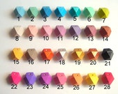 Wood Beads 61 colors, Polygonal 20mm Hand painted Beads, Make jewellery for selling, Geometric Natural Wood Beads, holzperle hexagon