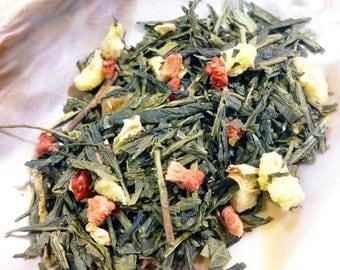 Tea Sample -  Katrina Thorindal - Green Tea Peach and Strawberry - Keys of Kalijor