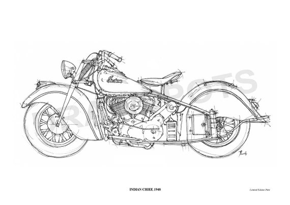 Line Art Limited : Indian chief original handmade drawing fine by drawspots