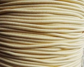 5 yards - butter - elastic rope cords (2mm width)