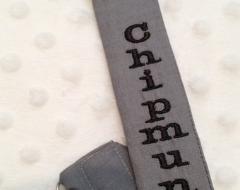 Pacifier Clip Classy Grey and Black  for Boys and Girls-Personalized