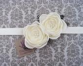 white and black bridal sash