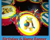 disney special agent oso happy birthday banner with name banner
