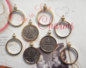 8 Goldplated Quarter Coin Holders