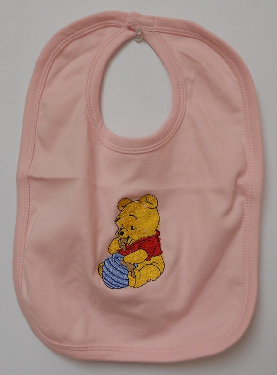 Items Similar To Baby Winnie The Pooh Eating Honey Bib On Etsy