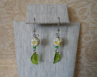 Clowning off Leaf Earrings