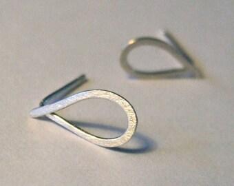 Tear drop Earrings - Silver Gold-Filled Dangle original design interchangeable tear drop post stud bail Friend Mother's Day Gift