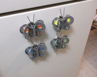 Butterfly Metal Recycled Art Magnet