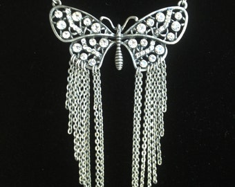Butterfly Statement Necklace- One of a Kind Original- Designs by Stalinda