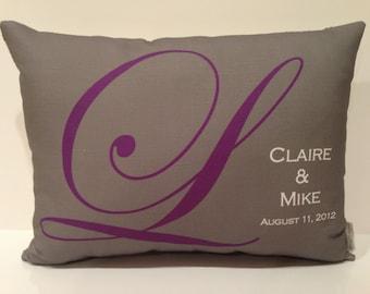 Custom Wedding Pillow-  wedding date, wedding, anniversary, poem, quote
