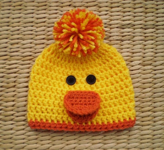 Knitting Pattern For Duck Hat : Crochet Duck Hat Duck Hat Duck Beanie Crochet by SadiesCottage