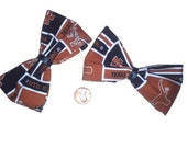 2 Texas Longhorn Bows, Hairbows, Sports bows, Women's hair bows, College Football, Longhorns Fabric, Longhorns Bows,