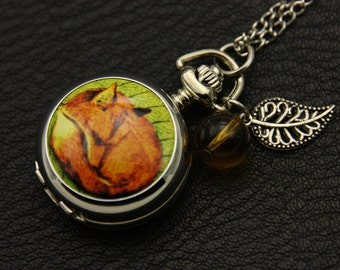 Necklace Pocket watch Master fox